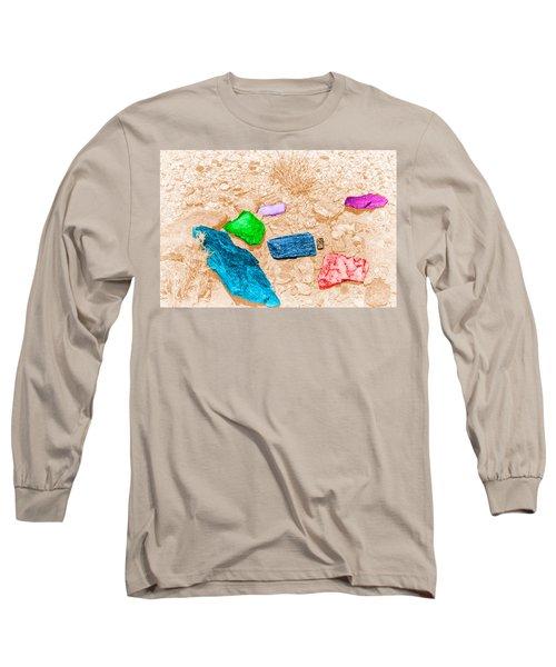 Colored Rocks 1 Long Sleeve T-Shirt by Bartz Johnson