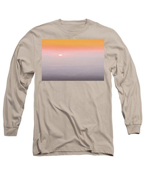 Colorful And Smoky Carolina Sunrise Long Sleeve T-Shirt