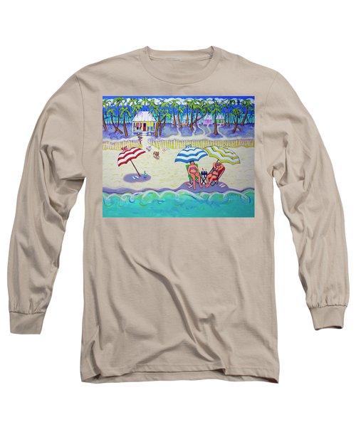 Colorful Beach Hideaway Long Sleeve T-Shirt