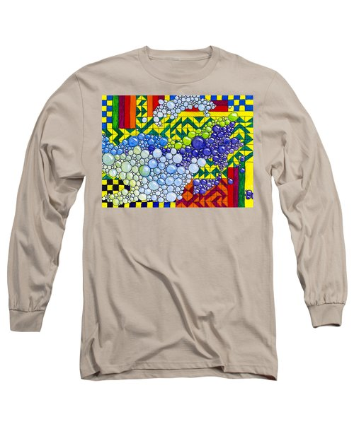 Colorful Bubbles On Tiles Long Sleeve T-Shirt