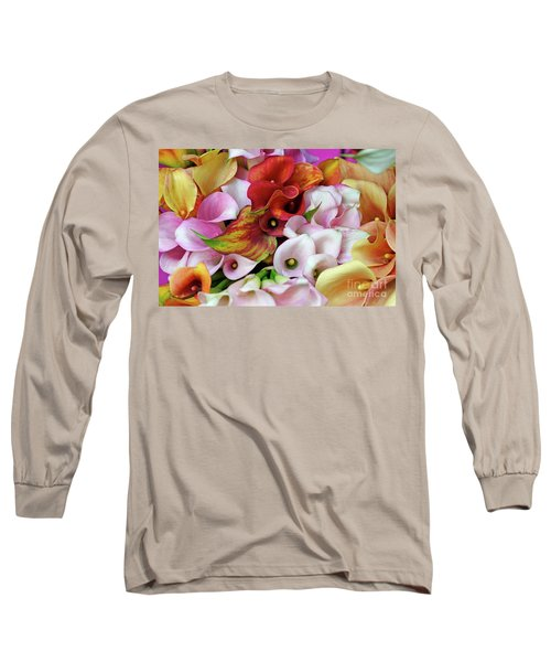 Colorful Calla Lilies Long Sleeve T-Shirt