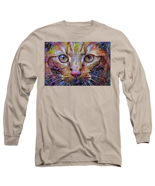 Colorful Cat Art Long Sleeve T-Shirt
