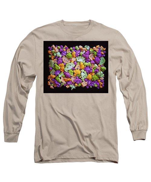 Colorful Cauliflower Mosaic Long Sleeve T-Shirt