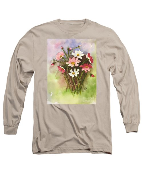 Long Sleeve T-Shirt featuring the painting Colorful Cosmos by Lucia Grilletto