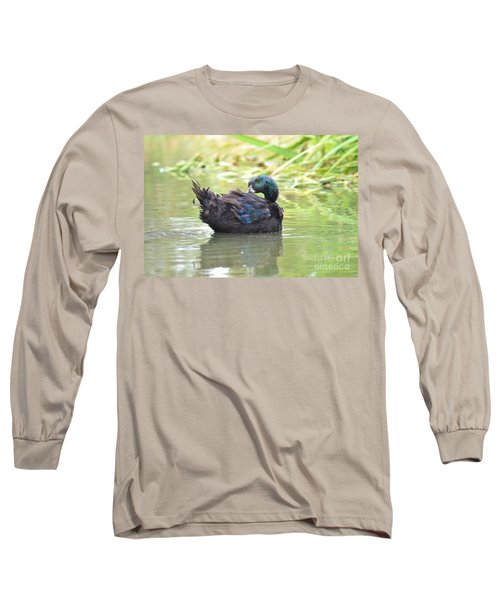 Colorful Duck Long Sleeve T-Shirt by Laurianna Taylor
