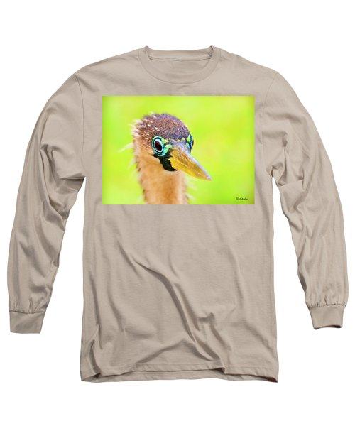 Colorful Female Anhinga Long Sleeve T-Shirt