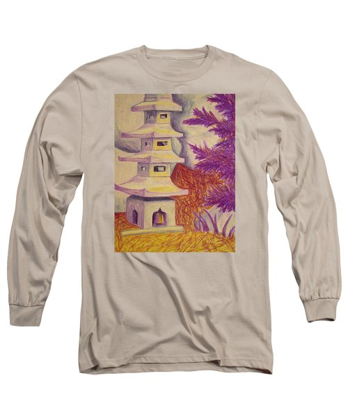 Colorful Garden Long Sleeve T-Shirt by Jean Haynes