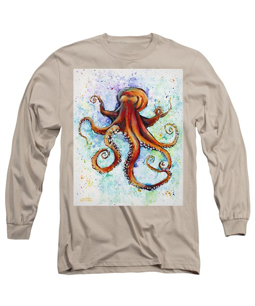 Colorful Ink Long Sleeve T-Shirt by Arleana Holtzmann