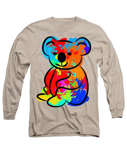 Colorful Koala Long Sleeve T-Shirt by Chris Butler