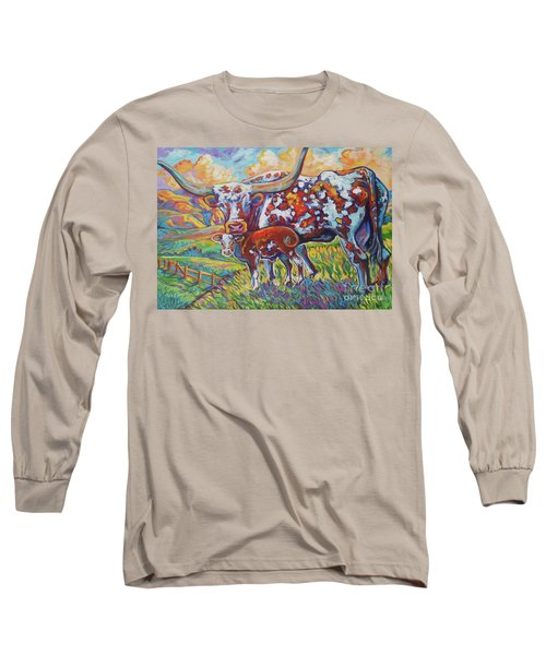 Long Sleeve T-Shirt featuring the painting Colorful Momma by Jenn Cunningham