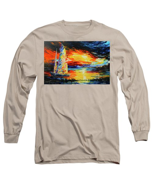 Colorful Sail Long Sleeve T-Shirt