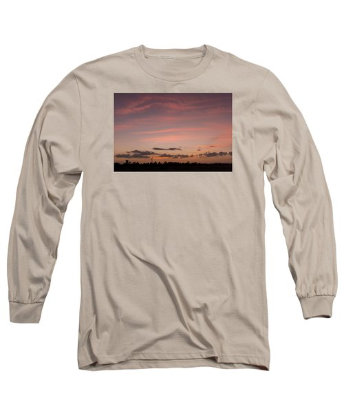 Colorful Sunset Over The Wetlands Long Sleeve T-Shirt