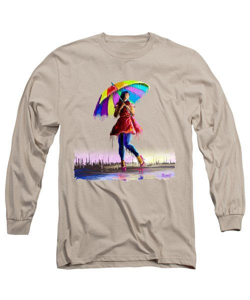 Colorful Umbrella Long Sleeve T-Shirt
