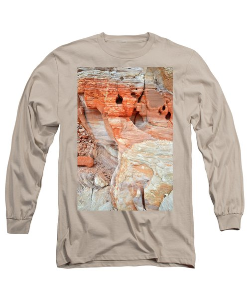 Long Sleeve T-Shirt featuring the photograph Colorful Wall Of Sandstone In Valley Of Fire by Ray Mathis