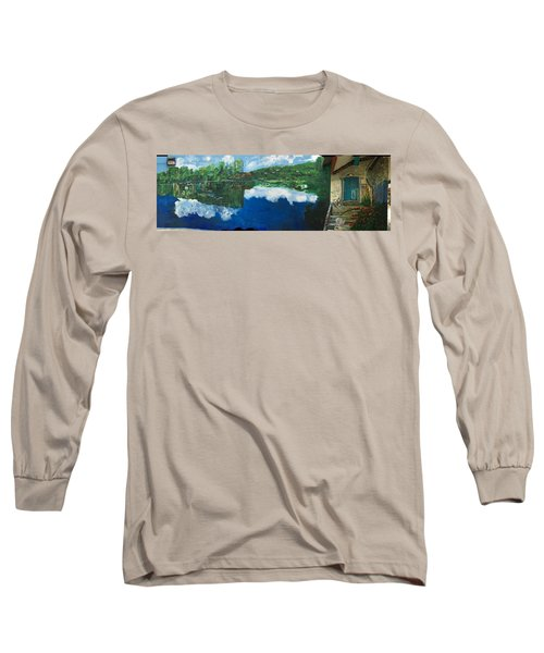 Coloring Holland V - Wall Four Long Sleeve T-Shirt by Belinda Low