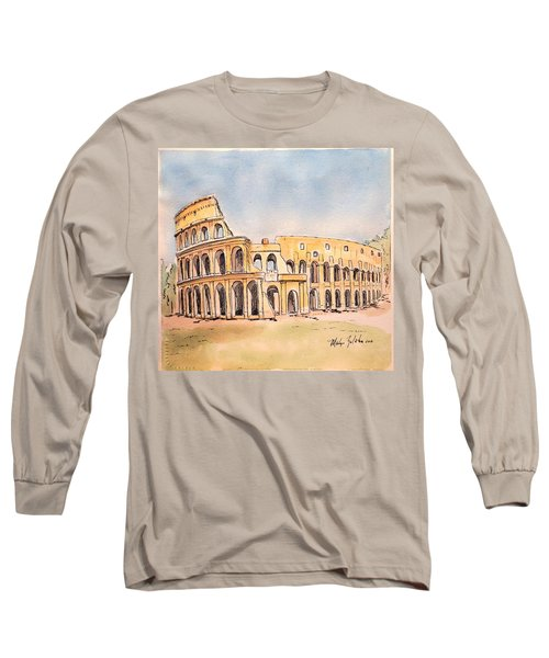 Colosseum Long Sleeve T-Shirt by Marilyn Zalatan