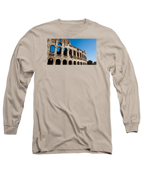 Long Sleeve T-Shirt featuring the photograph Colosseum - Old And New by Ed Cilley