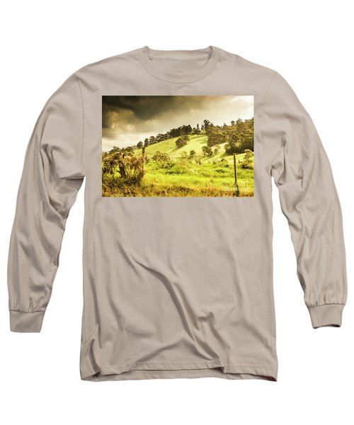 Colourful Fields And Farmyards Long Sleeve T-Shirt