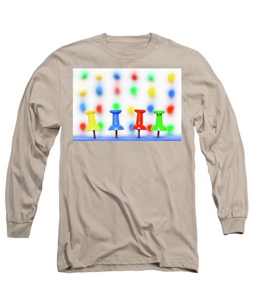 Colourful Pins. Long Sleeve T-Shirt