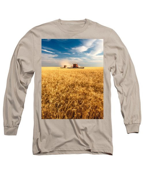 Combines Cutting Wheat Long Sleeve T-Shirt
