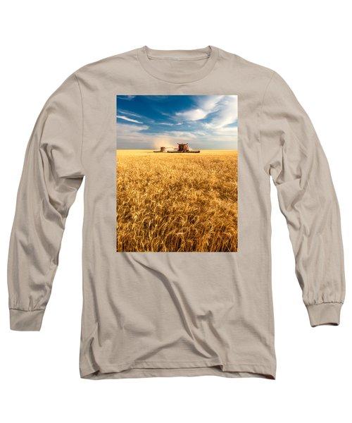 Combines Cutting Wheat Long Sleeve T-Shirt