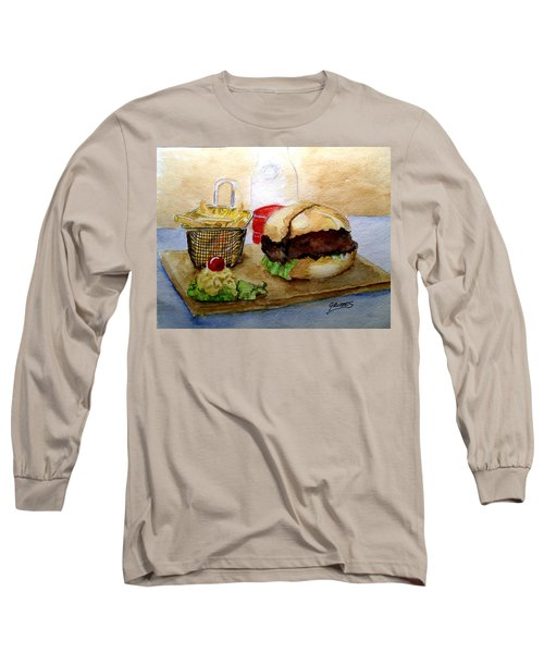 Long Sleeve T-Shirt featuring the painting Come And Get It Dinner Is Ready by Carol Grimes