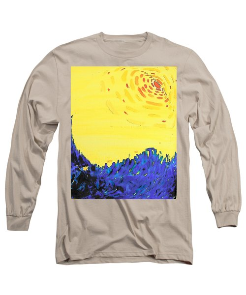 Long Sleeve T-Shirt featuring the painting Comet by Lenore Senior