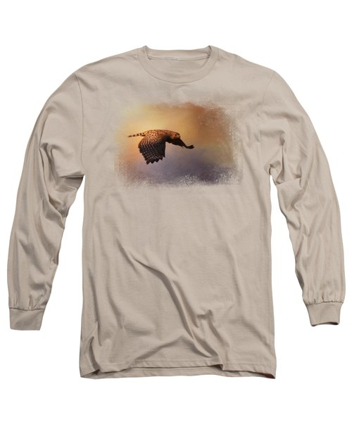 Coming In For The Evening Long Sleeve T-Shirt by Jai Johnson