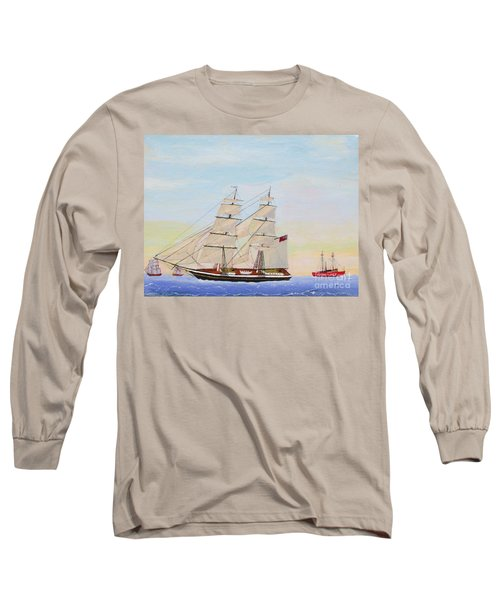Coming To America - 1872 Long Sleeve T-Shirt by Bill Hubbard