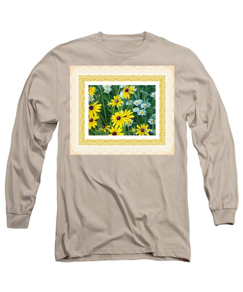 Coming Up Daisies Orange Long Sleeve T-Shirt