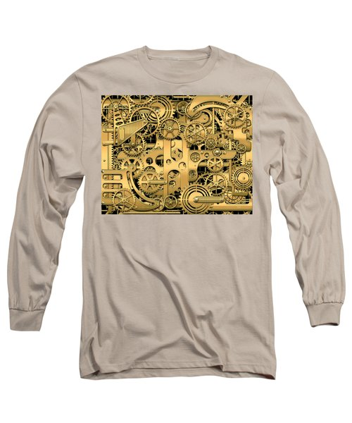 Complexity And Complications - Clockwork Gold Long Sleeve T-Shirt