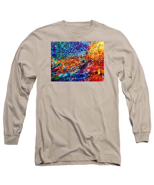 Composition # 5. Series Abstract Sunsets Long Sleeve T-Shirt by Helen Kagan
