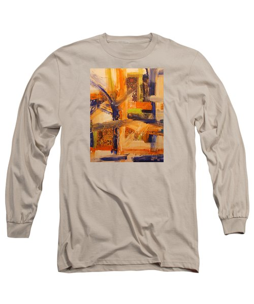 Long Sleeve T-Shirt featuring the painting Composition Orientale No 5 by Walter Fahmy
