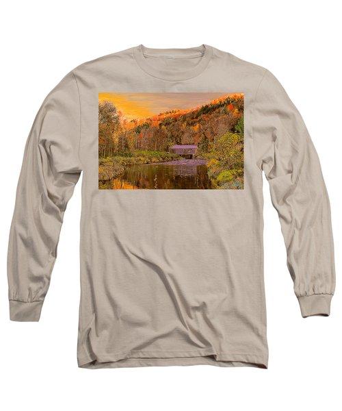 Comstock Bridge Long Sleeve T-Shirt by John Selmer Sr