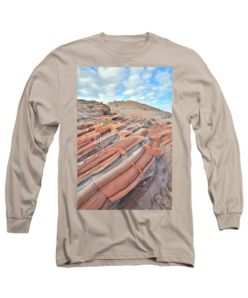 Concentric Circles Of Sandstone At Valley Of Fire Long Sleeve T-Shirt by Ray Mathis