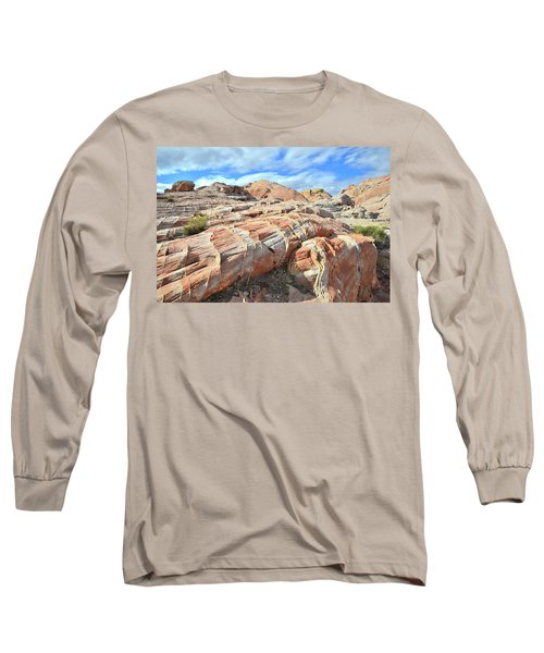Concentric Color In Valley Of Fire Long Sleeve T-Shirt by Ray Mathis
