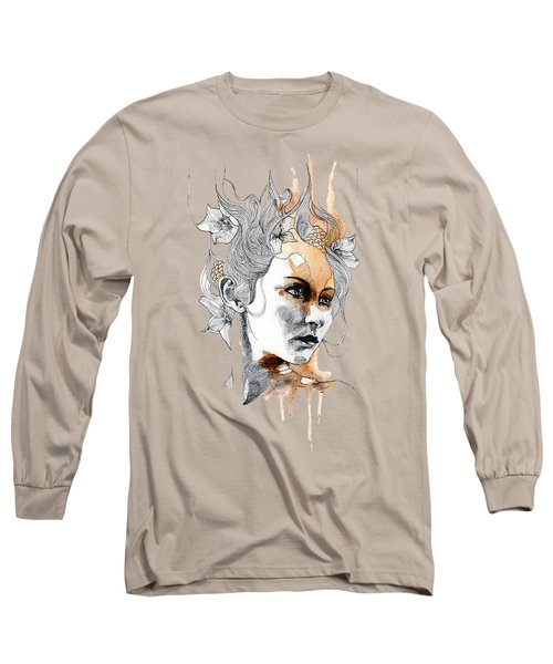 Concerned T-shirt Long Sleeve T-Shirt by Herb Strobino