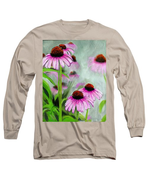 Coneflowers In The Mist Long Sleeve T-Shirt