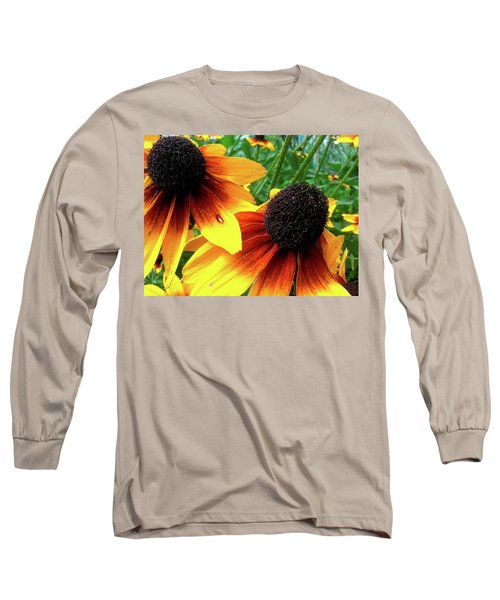 Long Sleeve T-Shirt featuring the photograph Coneflowers by Robert Knight