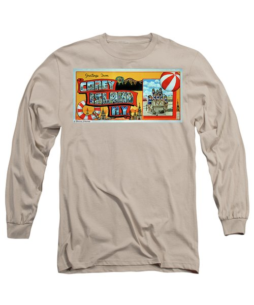 Coney Island Post Card Long Sleeve T-Shirt
