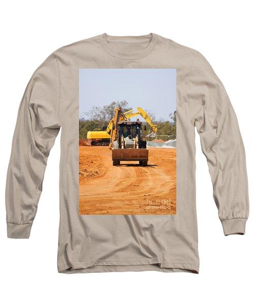 Construction Digger Long Sleeve T-Shirt