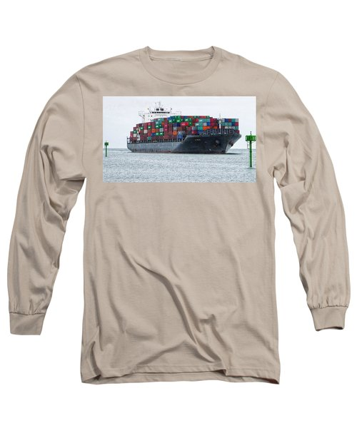 Container Ship Entering Durban Harbour Long Sleeve T-Shirt