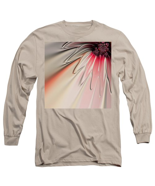 Contemporary Flower Long Sleeve T-Shirt by Bonnie Bruno