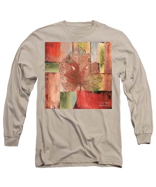 Contemporary Grape Leaf Long Sleeve T-Shirt