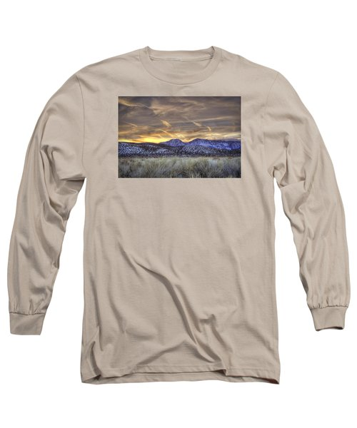 Contrails And Sage Brush Long Sleeve T-Shirt