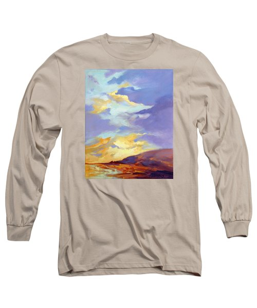 Long Sleeve T-Shirt featuring the painting Convergence by Rae Andrews
