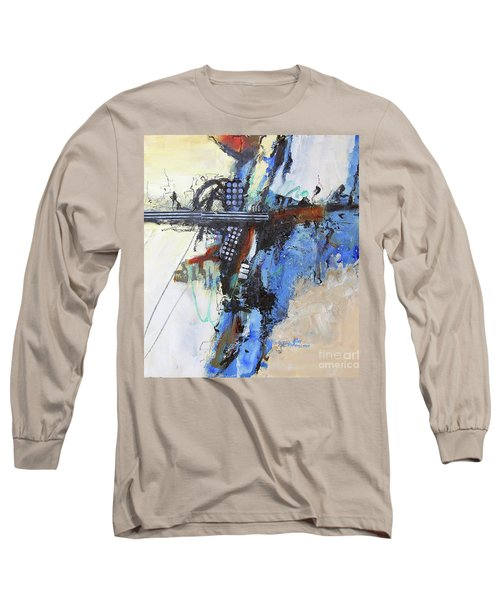 Long Sleeve T-Shirt featuring the painting Coolly Collected by Ron Stephens