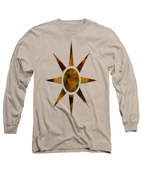 Copper Spirals Abstract Square Long Sleeve T-Shirt