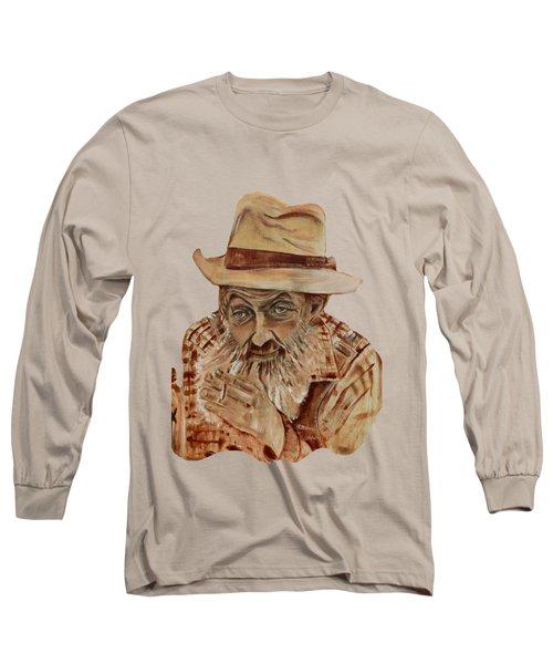 Coppershine Popcorn Bust - T-shirt Transparency Long Sleeve T-Shirt by Jan Dappen
