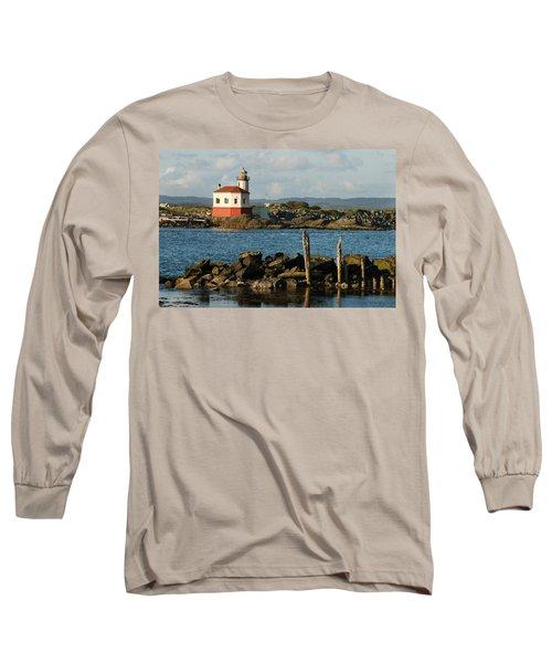 Coquille River Lighthouse Bandon Oregon Long Sleeve T-Shirt